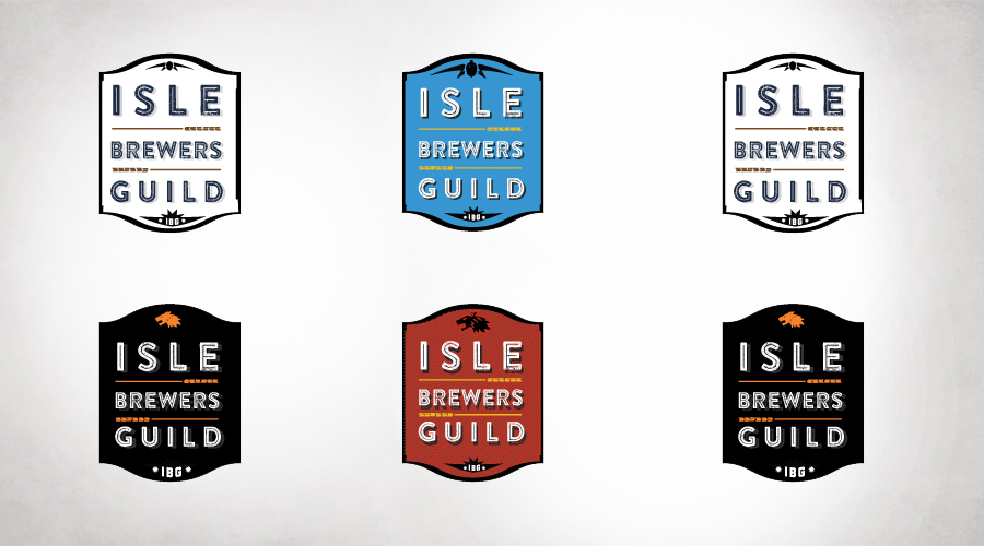 Isle Brewers Guild Logo variations